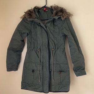 Fur Hood Cargo Jacket